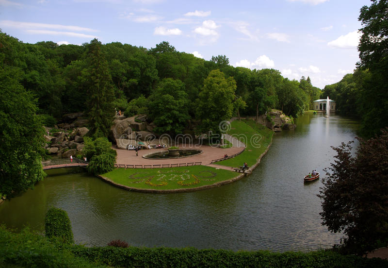 National dendrological park `SOFIYIVKA` stock photo