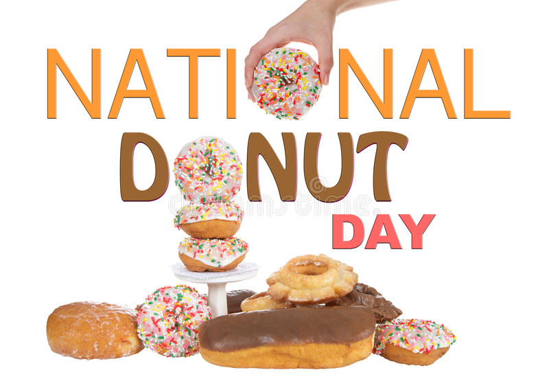 National Donut Day Sign Banner Display royalty free stock images