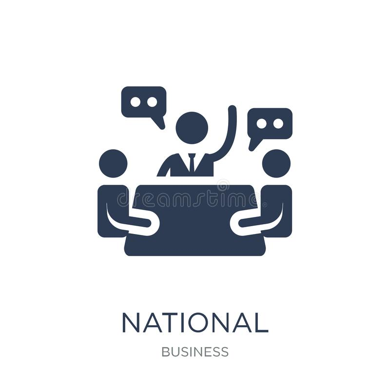 National Economic Council icon. Trendy flat vector National Econ. Omic Council icon on white background from Business collection, vector illustration can be use stock illustration