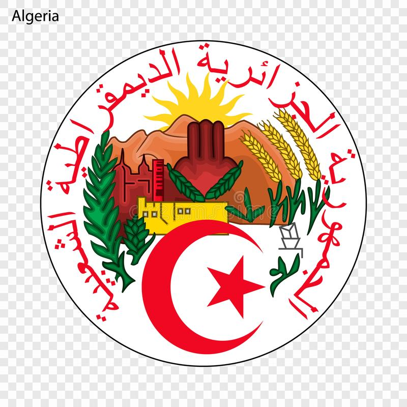 National emblem or symbol. Symbol of Algeria. National emblem stock illustration
