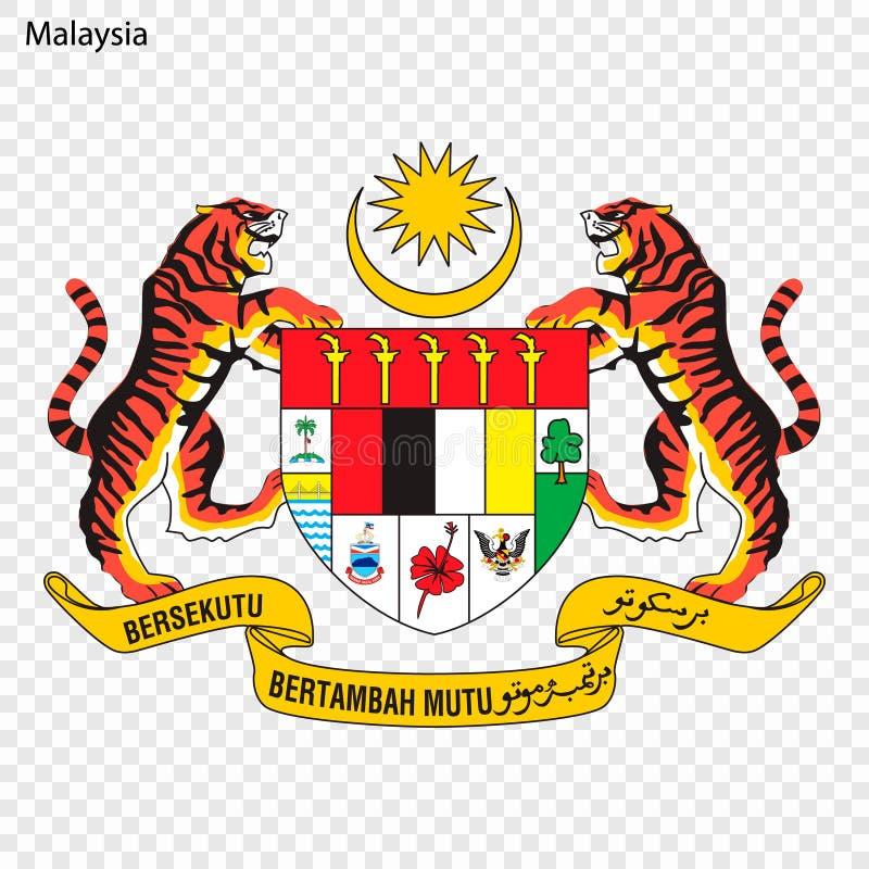 National emblem or symbol. Symbol of Malaysia. National emblem royalty free illustration
