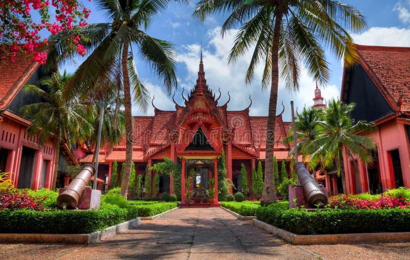 national för cambodia hdrmuseum arkivbild