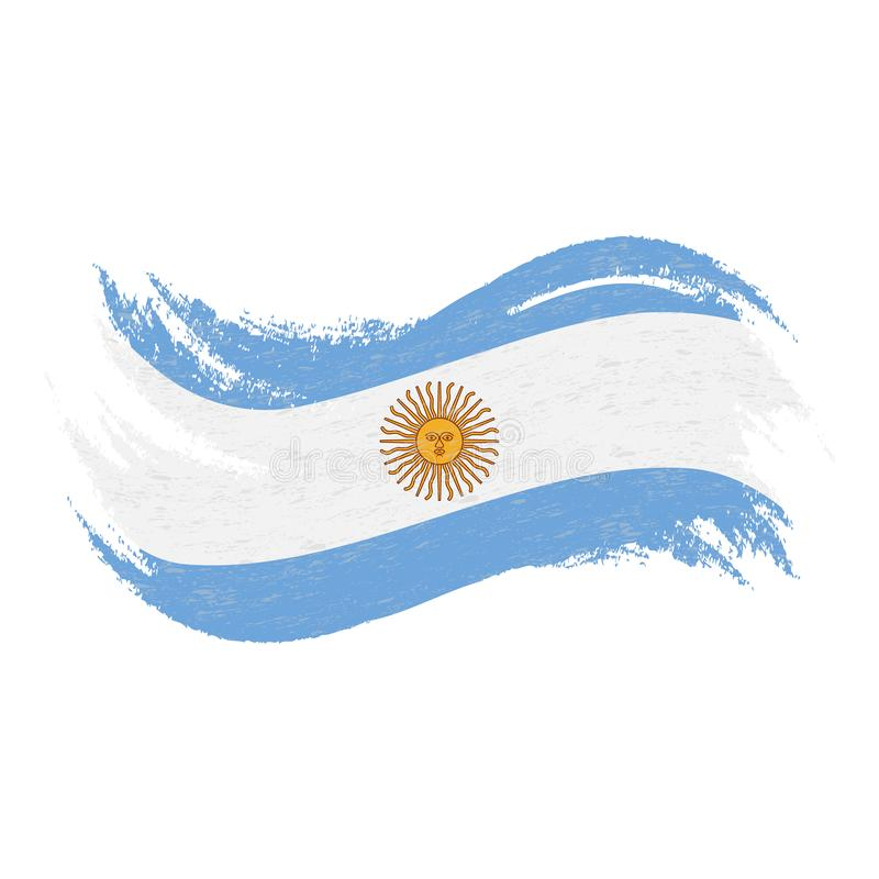 National Flag Of Argentina, Designed Using Brush Strokes,Isolated On A White Background. Vector Illustration. vector illustration