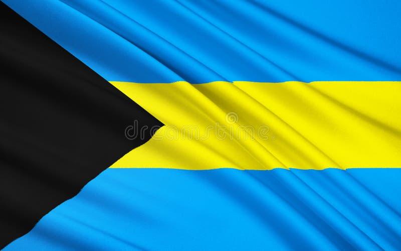 Flag of the Bahamas - Caribbean, Nassau. The national flag of The Bahamas, an archipelago of islands in the Caribbean. The islands were a British colony from the vector illustration