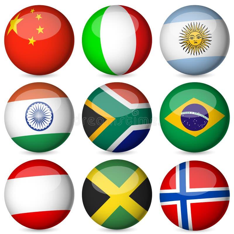 Download National flag ball set 2 stock vector. Image of circle - 19648812