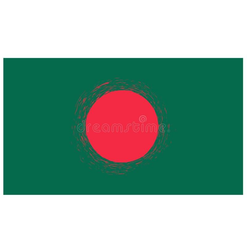 National Flag of Bangladesh Isolated. National Grunge Flag of Bangladesh Isolated on White Background vector illustration