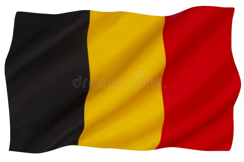 National flag of Belgium stock images
