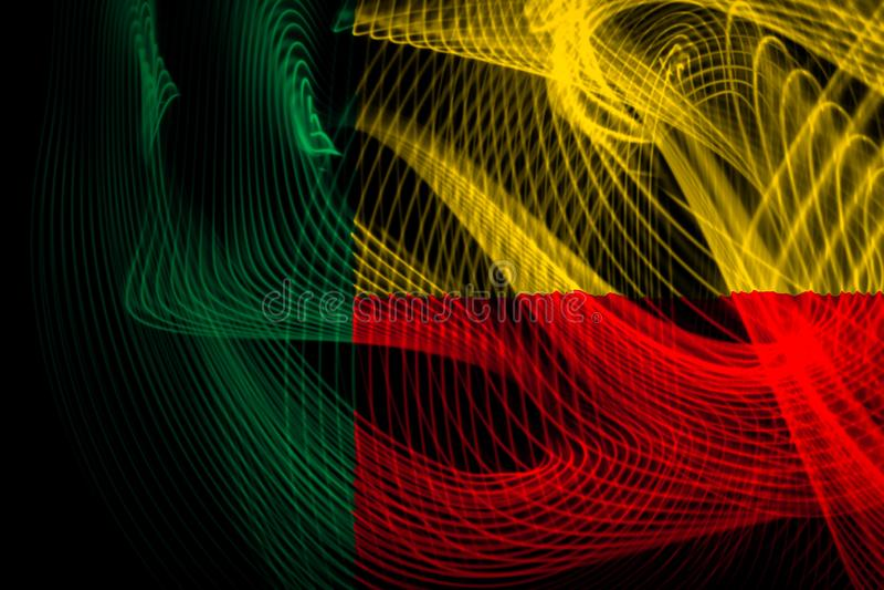 The national flag of Benin vector illustration