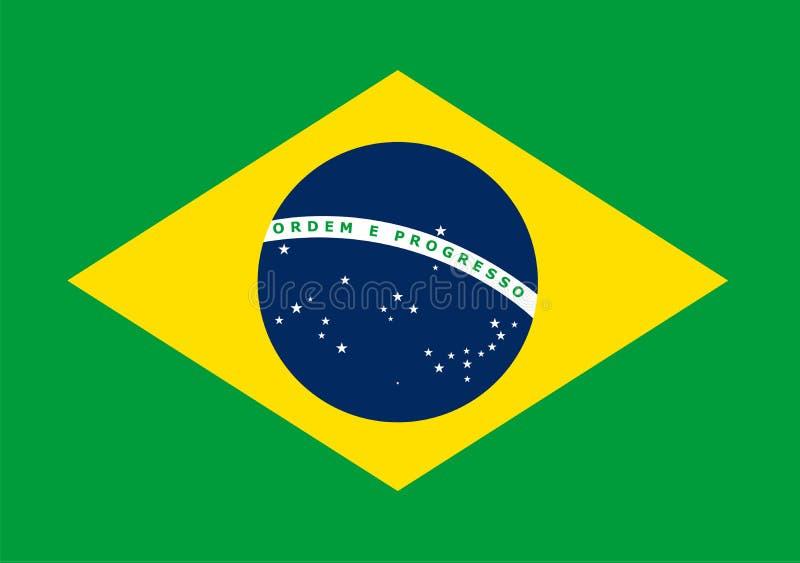 The National Flag Of Brasil Vector Pattern Banner Of