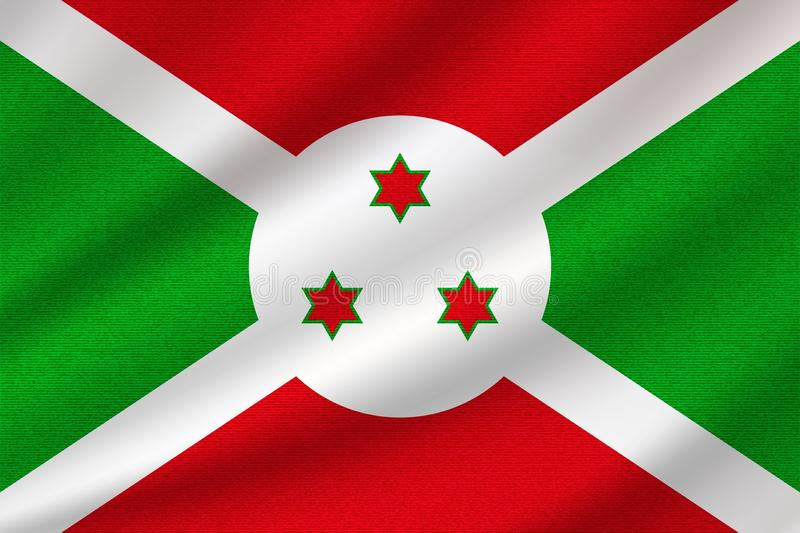 national flag of Burundi vector illustration
