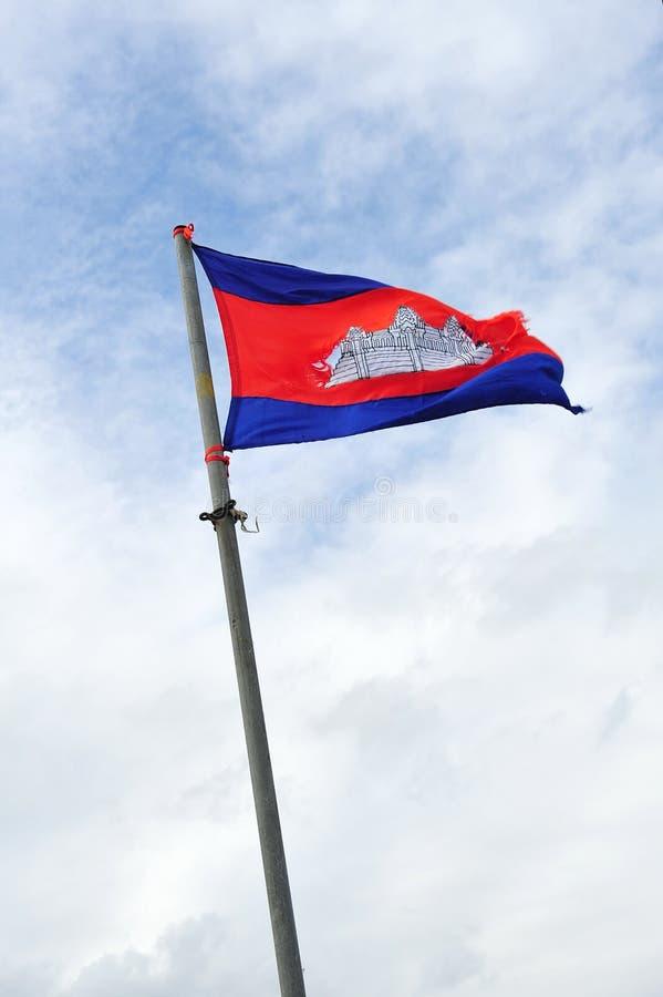 National Flag Of Cambodia Kingdom Royalty Free Stock Image