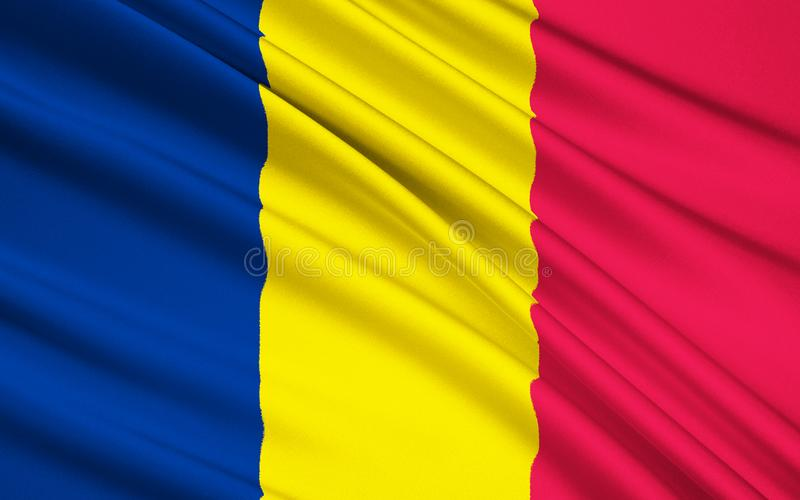 Flag of Chad royalty free illustration