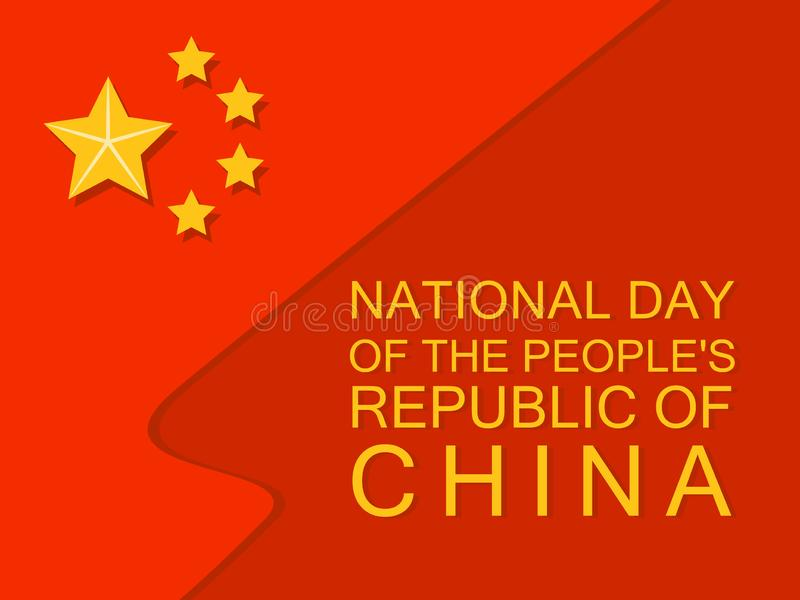 National flag china day concept background, flat style vector illustration