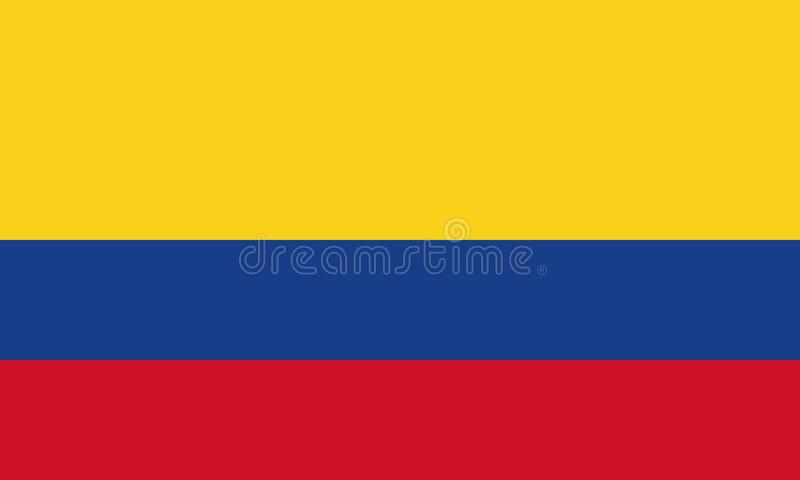 National Flag Columbia. Detailed Illustration National Flag Columbia royalty free illustration