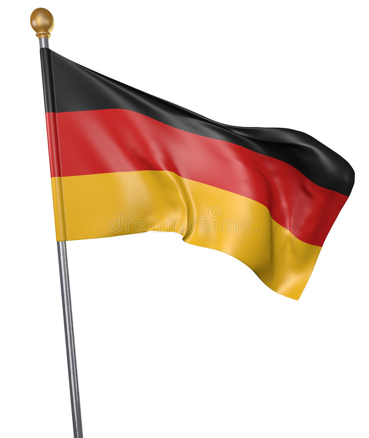 National flag for country of Germany on white background vector illustration