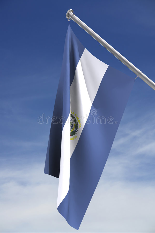 National flag of El Salvador vector illustration