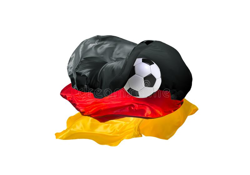 The national flag of Germany. FIFA World Cup. Russia 2018 royalty free stock photography