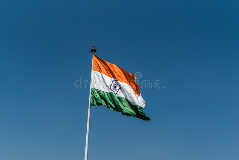 National Flag of India. Indian National Flag waving at New Delhi stock images