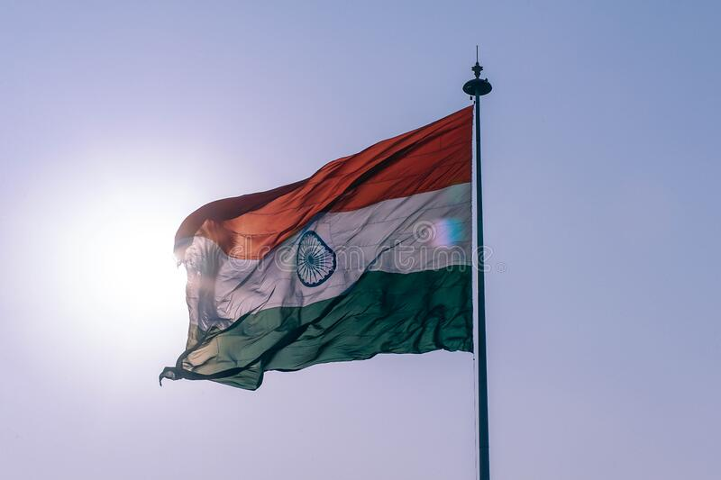 National flag of India stock images