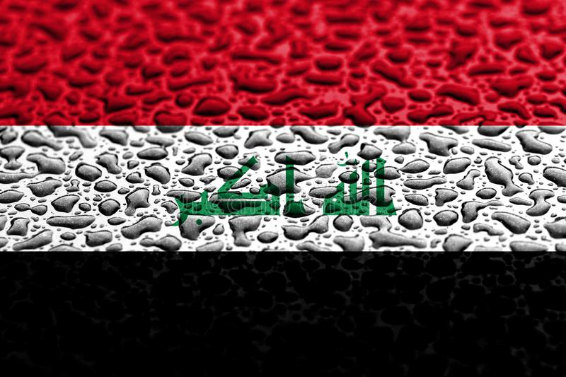 National flag of Iraq made of water drops. Background forecast concept royalty free stock photos