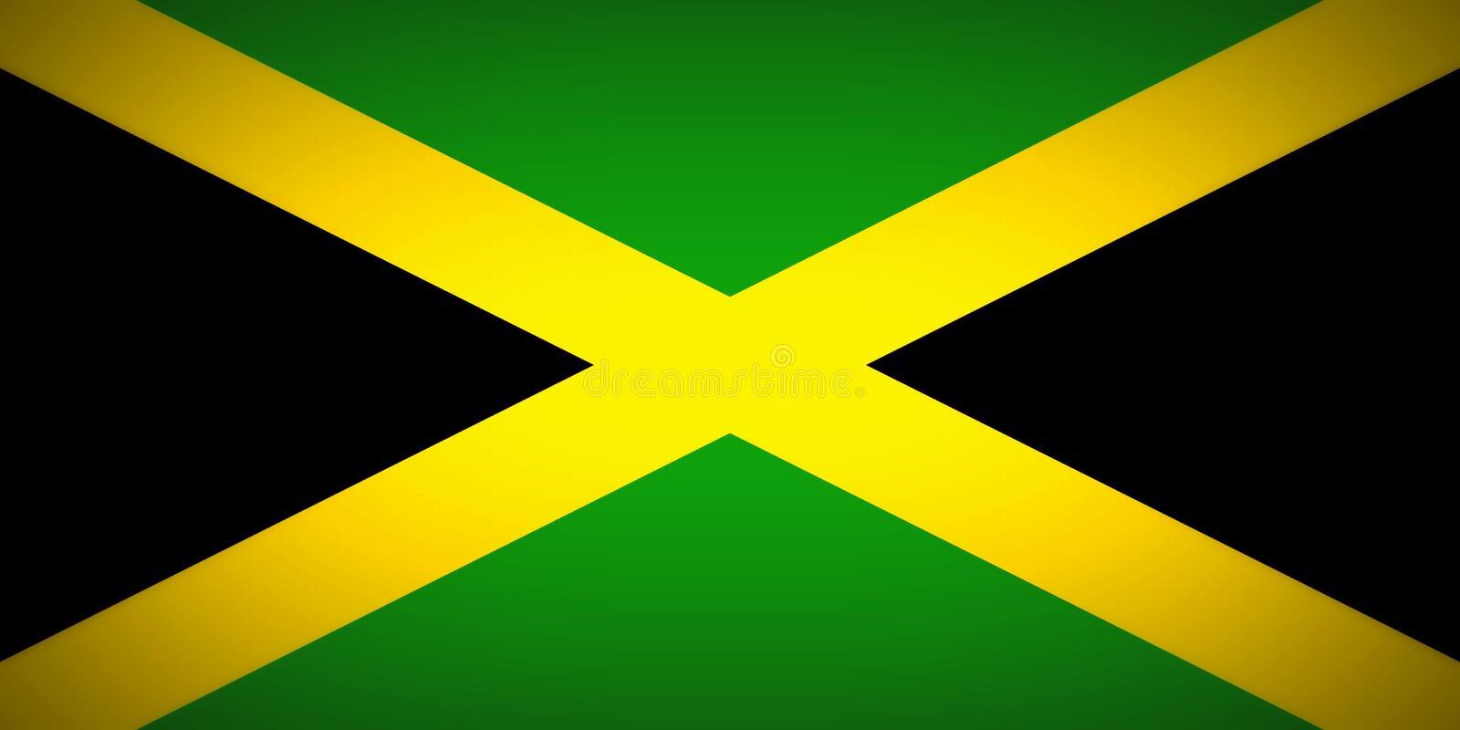 Flag of Jamaica. National flag of island country Jamaica vector illustration