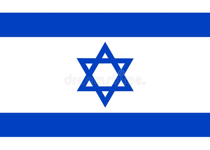 National flag of Israel Background for editors and designers. National holiday vector illustration