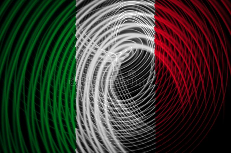 The national flag of Italy stock illustration