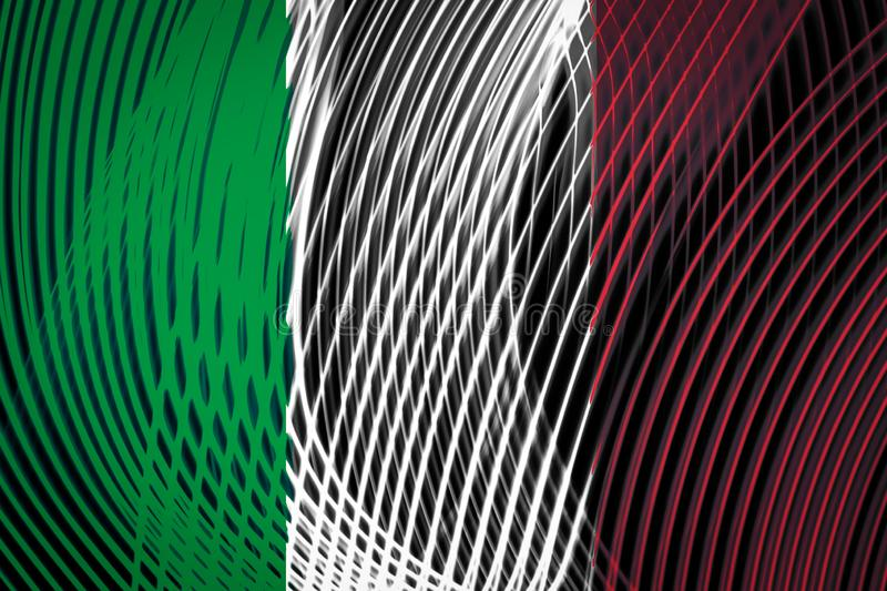 National flag of Italy stock illustration