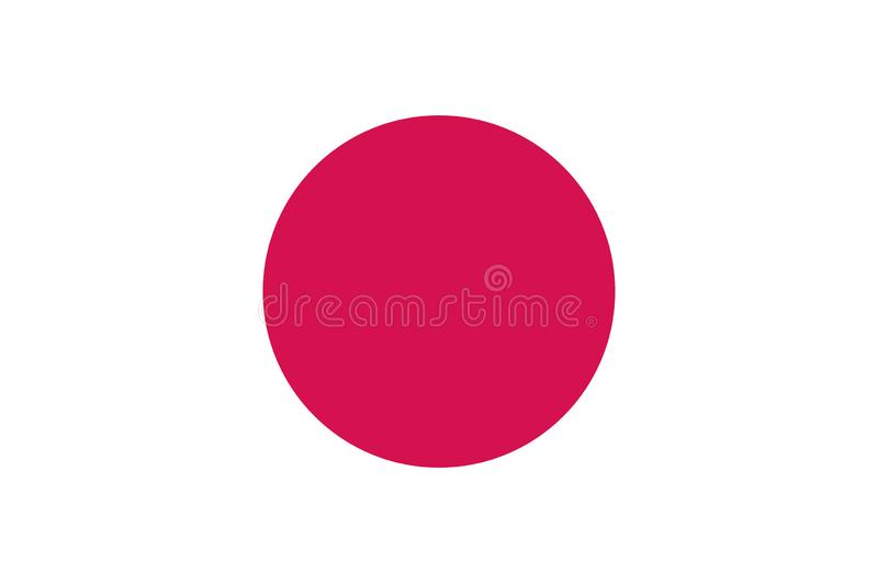 The national flag of Japan stock illustration