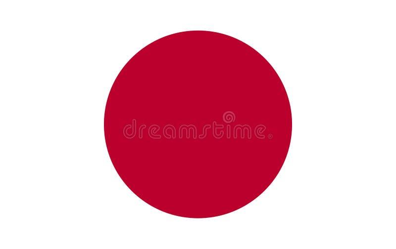 Flag of Japan. vector illustration