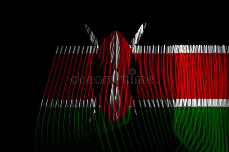 The national flag of Kenya stock illustration