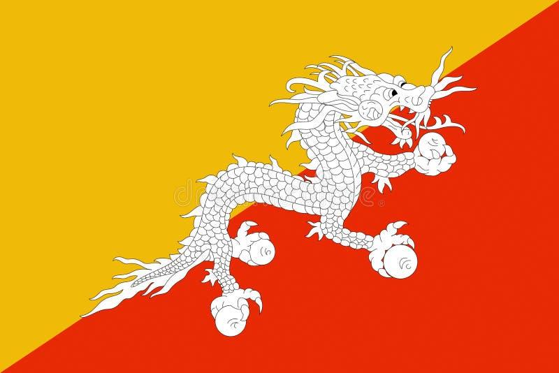 Flag of Bhutan vector illustration