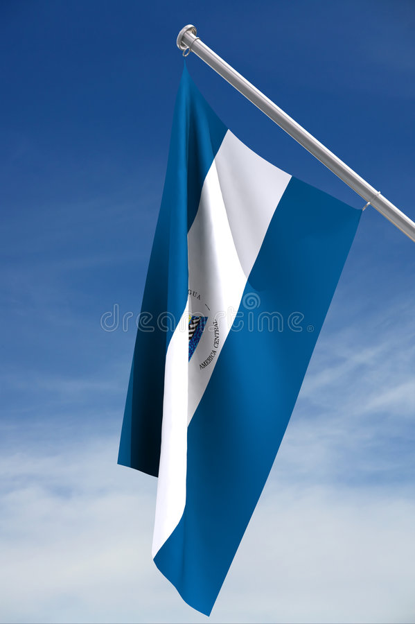 National flag of Nicaragua royalty free illustration