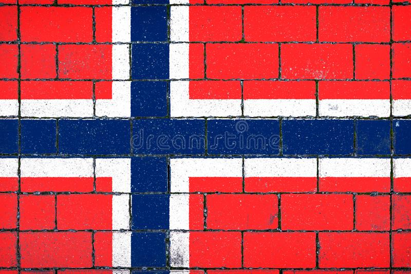 National flag of Norway royalty free stock photos