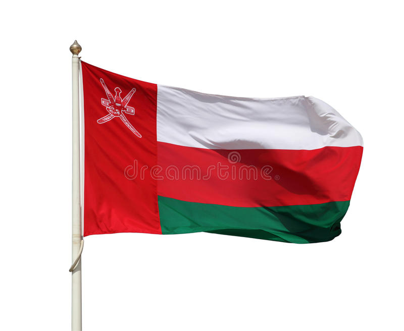 The national flag of Oman royalty free stock photography