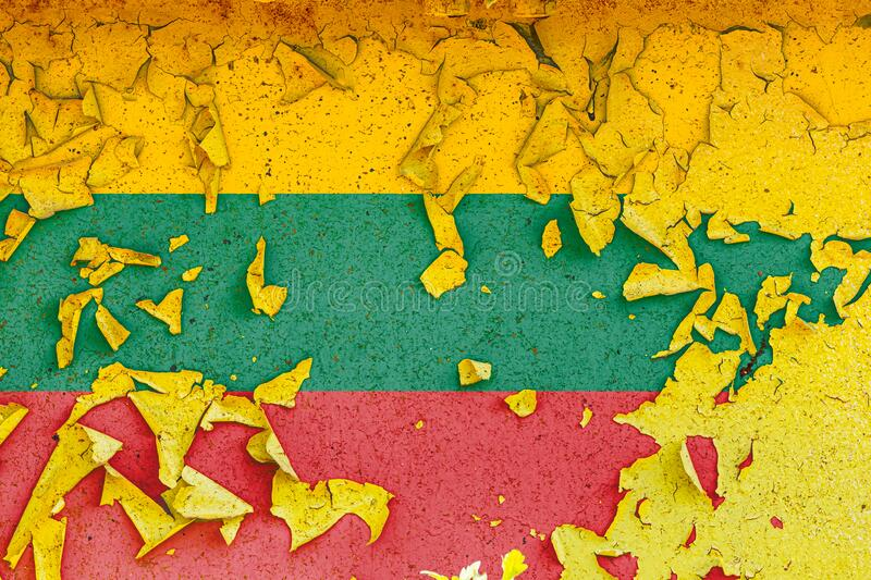 National flag is painted on an old metal wall royalty free stock photo