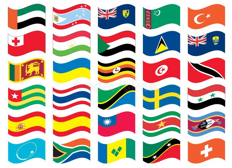 National flag part of a full set royalty free stock image