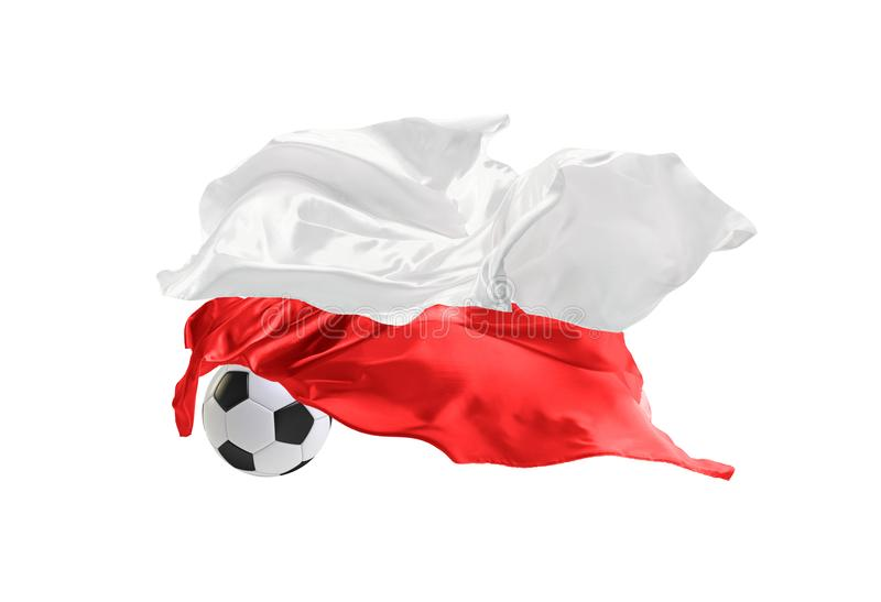 The national flag of Poland. FIFA World Cup. Russia 2018 stock image