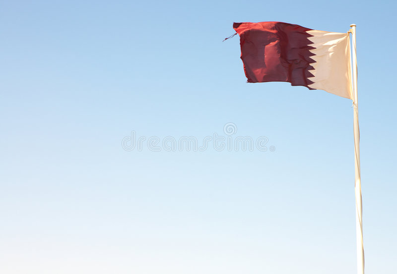 Download National flag of Qatar stock image. Image of symbol, white - 4930889