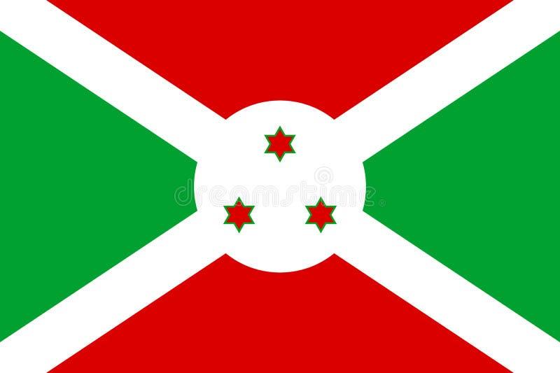 National flag Republic of Burundi. stock illustration