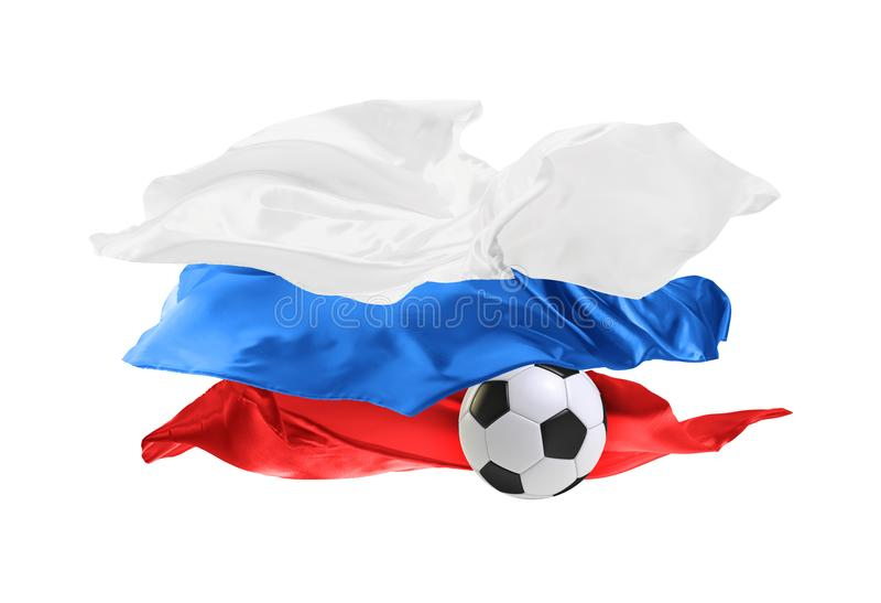 The national flag of Russia. FIFA World Cup. Russia 2018 royalty free stock images