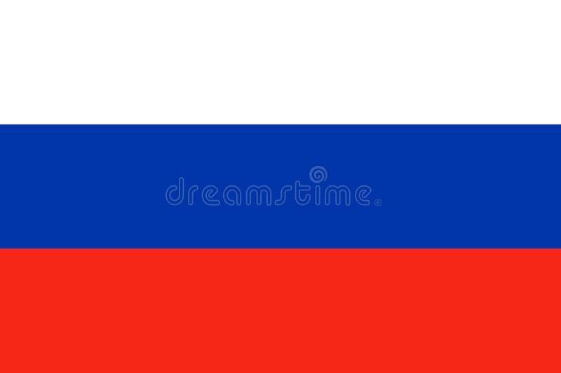 Russia national flag. Vector illustration. Moscow stock illustration