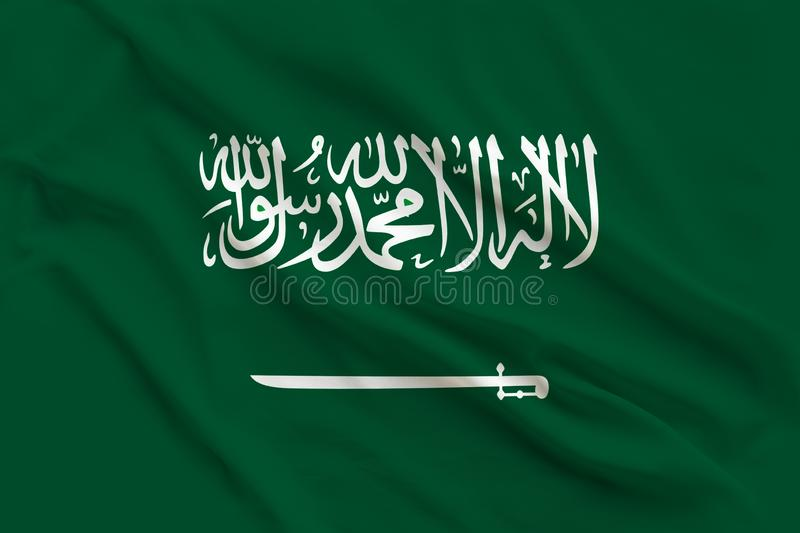 National flag of Saudi Arabia, a symbol of tourism, immigration, political asylum stock images