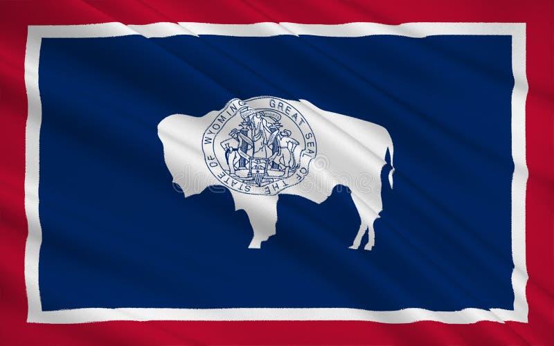 State Flag of Wyoming stock illustration
