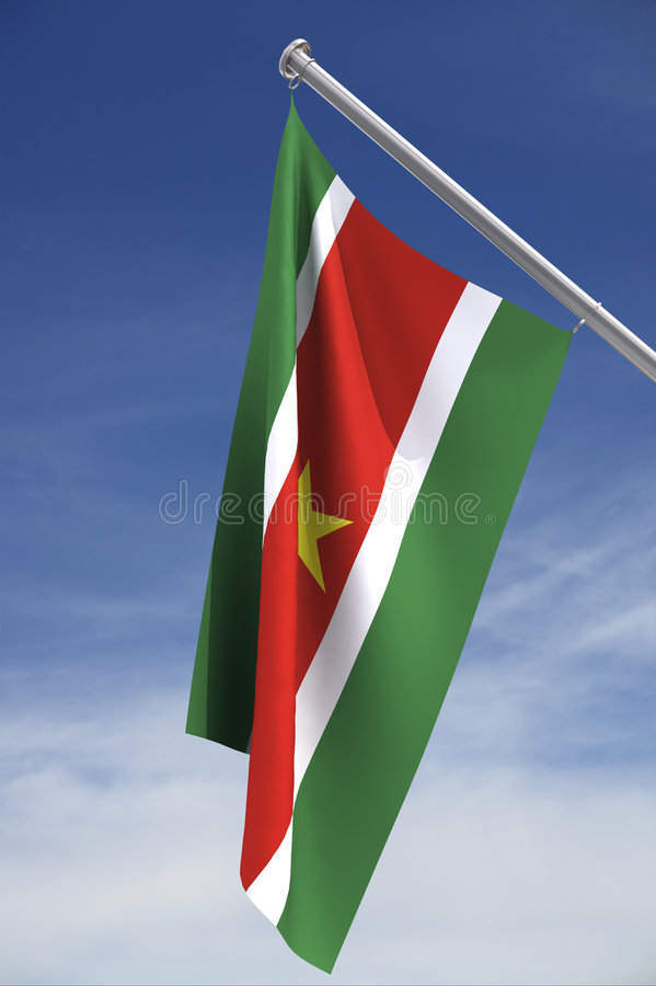 Download National flag of Suriname stock illustration. Illustration of stripes - 3471154