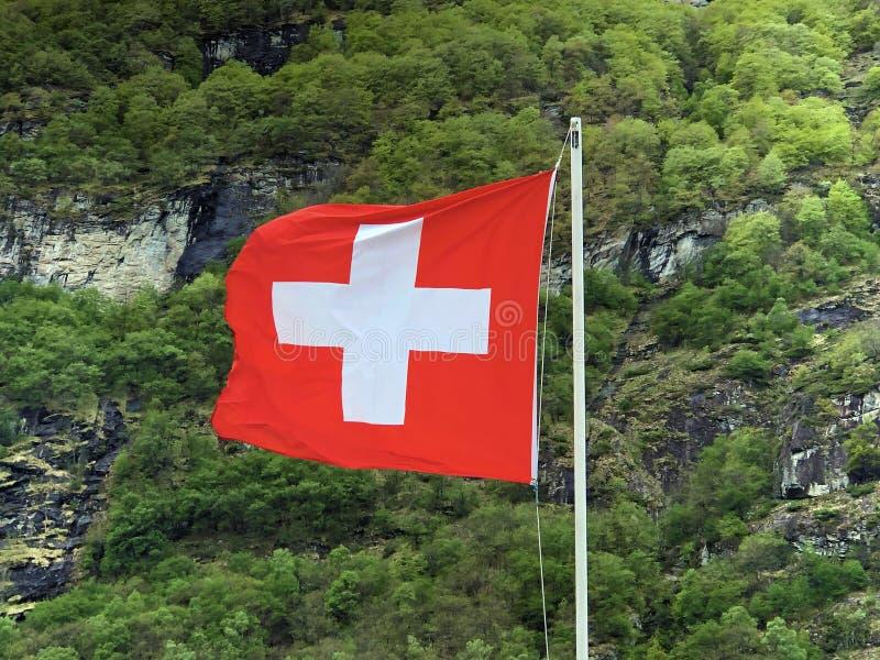 National flag of the Swiss Confederation Flag of Switzerland - National Flag of Switzerland. Nationalflagge der Schweizerischen Eidgenossenschaft Offizielle royalty free stock photography