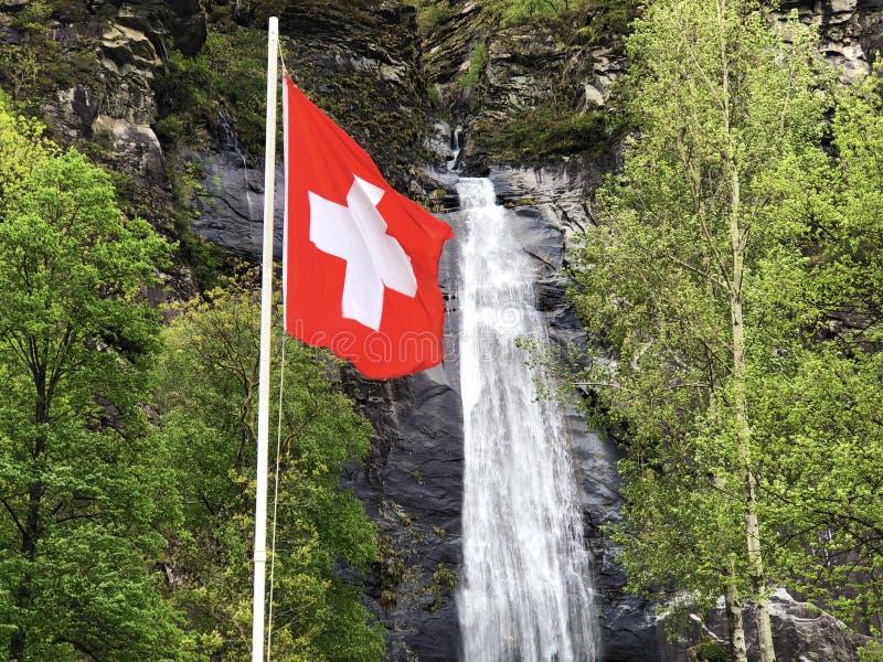 National flag of the Swiss Confederation Flag of Switzerland - National Flag of Switzerland. Nationalflagge der Schweizerischen Eidgenossenschaft Offizielle stock photo