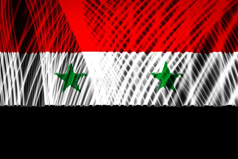 The national flag of Syria stock illustration