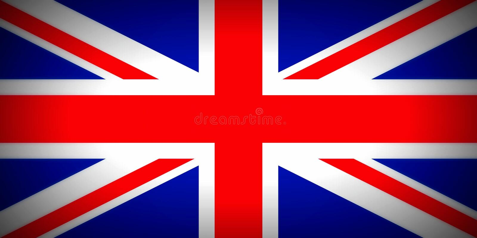 Flag of United Kingdom. National flag of The United Kingdom of Great Britain and Northern Ireland stock illustration
