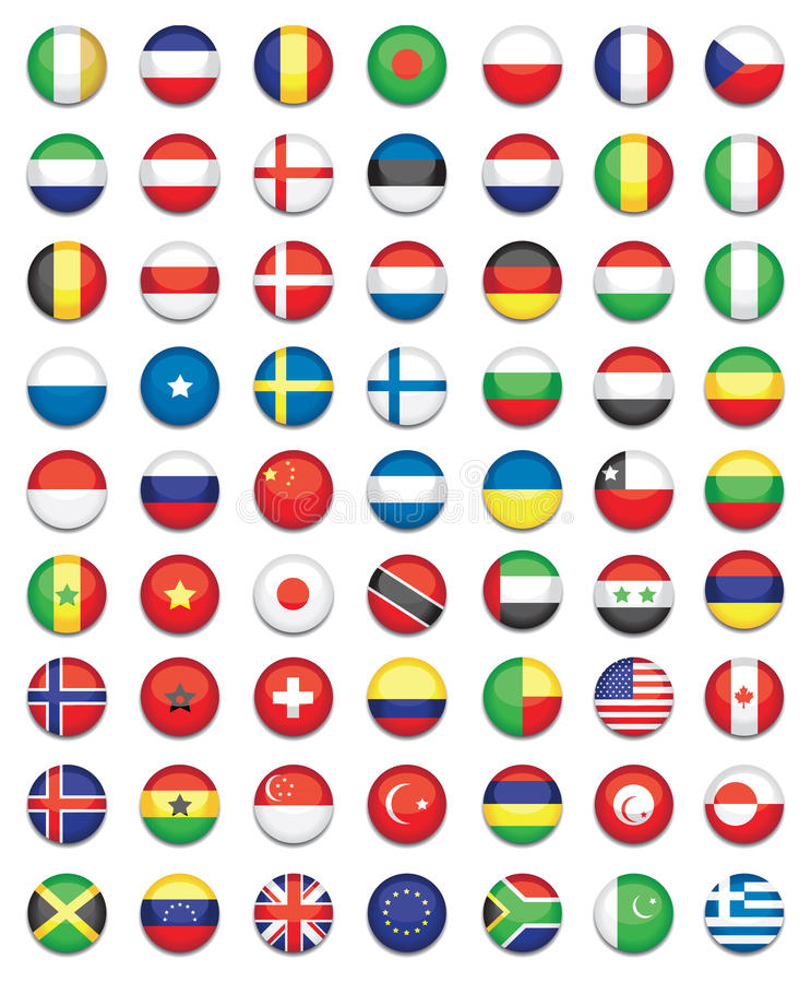 Download National flags stock vector. Image of asia, america, germany - 20631874